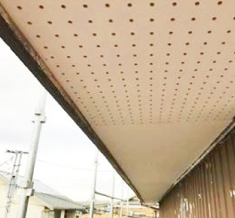 ケイカル板(ケイ酸カルシウム板)の軒天