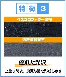 特徴3:優れた光沢(上塗り時後、良質な艶を形成します)