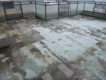 ルーフバルコニーの防水層劣化