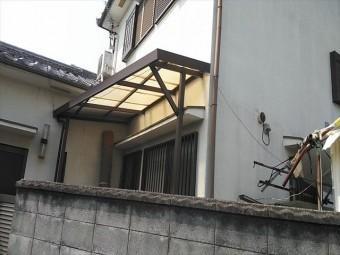 姫路市の傷んだポリカ波板交換前の写真