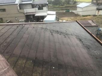 加古郡の温水器撤去後の屋根の写真