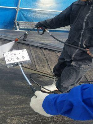 塗装前の高圧洗浄