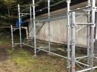 宍粟市の仮設足場の設置