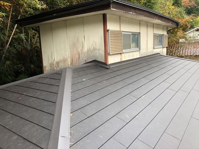 カバー工法 施工完了した屋根