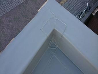 明石市のシート防水の端部処理