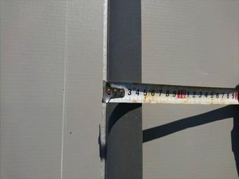 明石市の塩ビ防水シートの重なり幅の確認