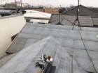 加古川市の葺き替え工事のルーフィングの施工