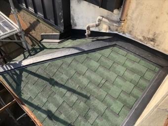 加古川市でアルマ葺き替えの雨押え板金の施工