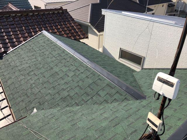 加古川でニチハのアルマの施工完了後の屋根写真
