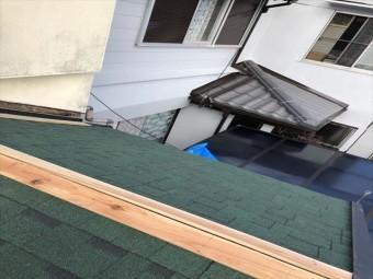 加古川市でアルマ葺き替え貫板施工