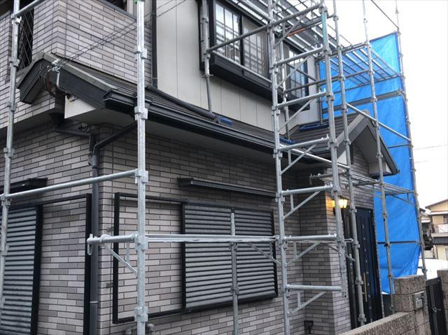 加古川市の破風交換の雨樋の取付