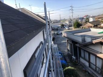 加古川市のニチハのアウティの破風施工写真