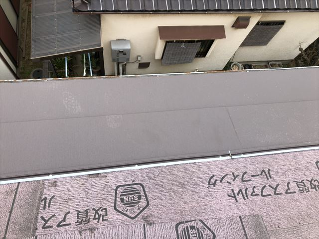 高砂市の葺き替え工事のスーパーガルテクトの施工
