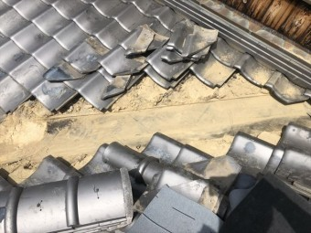 加古川市の銅製の谷板金撤去