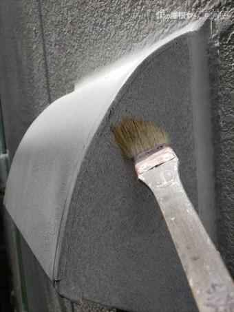 三木市の外壁塗装の鉄部錆止めの刷毛塗り