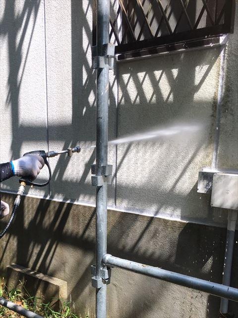 三木市の鉄骨ALC造の高圧洗浄とシーリングと鉄部錆止め塗布