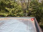 三木市の雨漏り無料点検の陸屋根に積もった落葉
