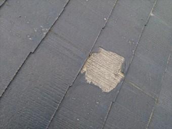 屋根塗装めくれ状況