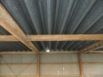 姫路市 傷んだ金属折板屋根