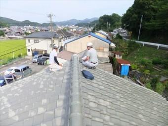 相生市屋根の調査