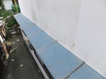 相生市のガルバリウム鋼板庇カバー工法