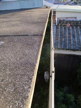 たつの市の汚れた樋