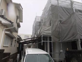 相生市Iさま邸足場施工