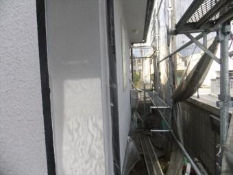 相生市の外壁下塗りの後の写真