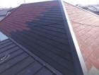 加古川市で雨漏りの為にスレート屋根の部分府j着替え