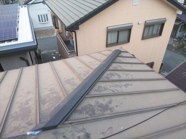 高砂市の台風被害の屋根の板金の完成写真
