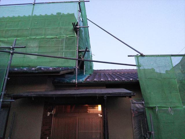 姫路市飾磨区の玄関外壁塗装前
