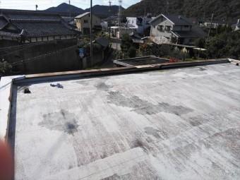 台風被害の陸屋根