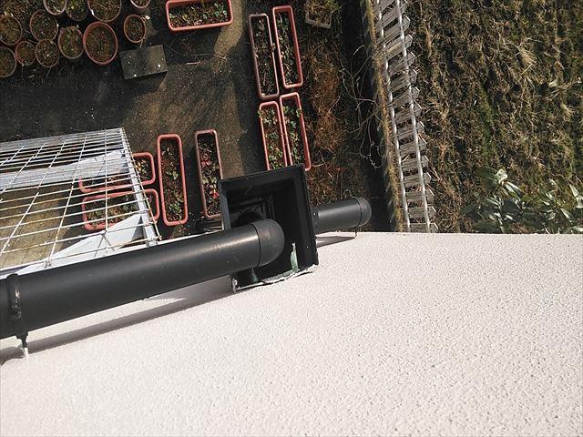 姫路市の雨樋の角マス