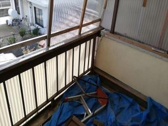 加古川市のベランダの床の写真