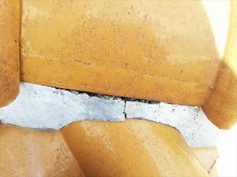 高砂市の漆喰の劣化の写真