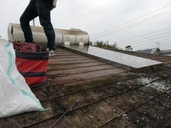 加古郡の温水器撤去作業