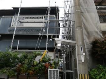 加古川市で足場の進捗写真