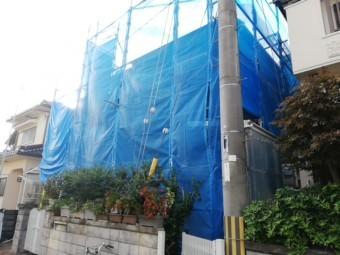 加古川市で足場の完成写真