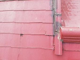 スレート屋根 亀裂