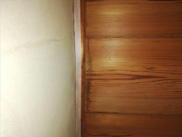 姫路市夢前町の天井の雨漏りの様子