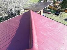 夢前町スレート屋根 棟のゆがみ