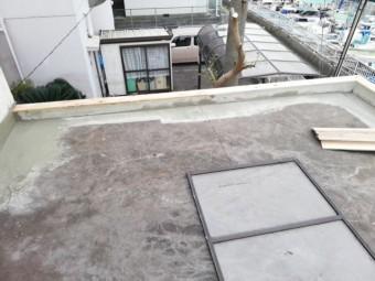 明石市の防水工事の下地補修