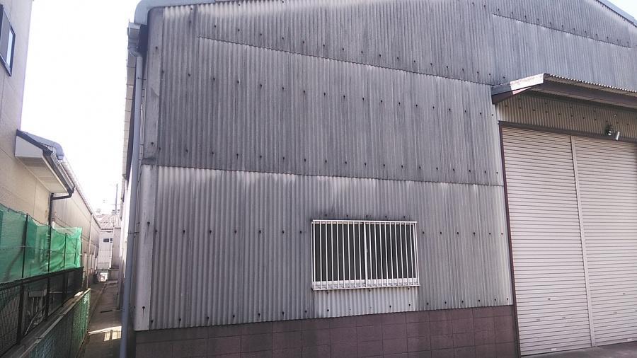 姫路市の屋根・壁スレートの調査