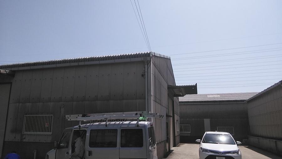 姫路市のカバー工法の見積もり用の調査