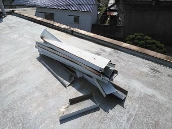 姫路市の笠木板金工事前