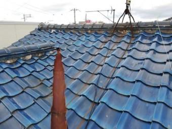 加古川市瓦屋根の漆喰の劣化