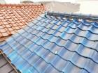 加古川市瓦屋根の漆喰の欠片