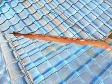 加古川市瓦屋根の谷板金のさび