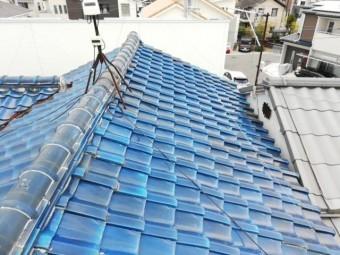 加古川市瓦屋根のズレた写真