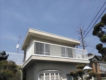 姫路市の笠木板金工事完了写真